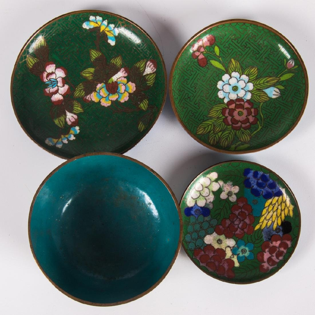 A Group of Twenty-One Chinese Cloisonné Serving and - 10