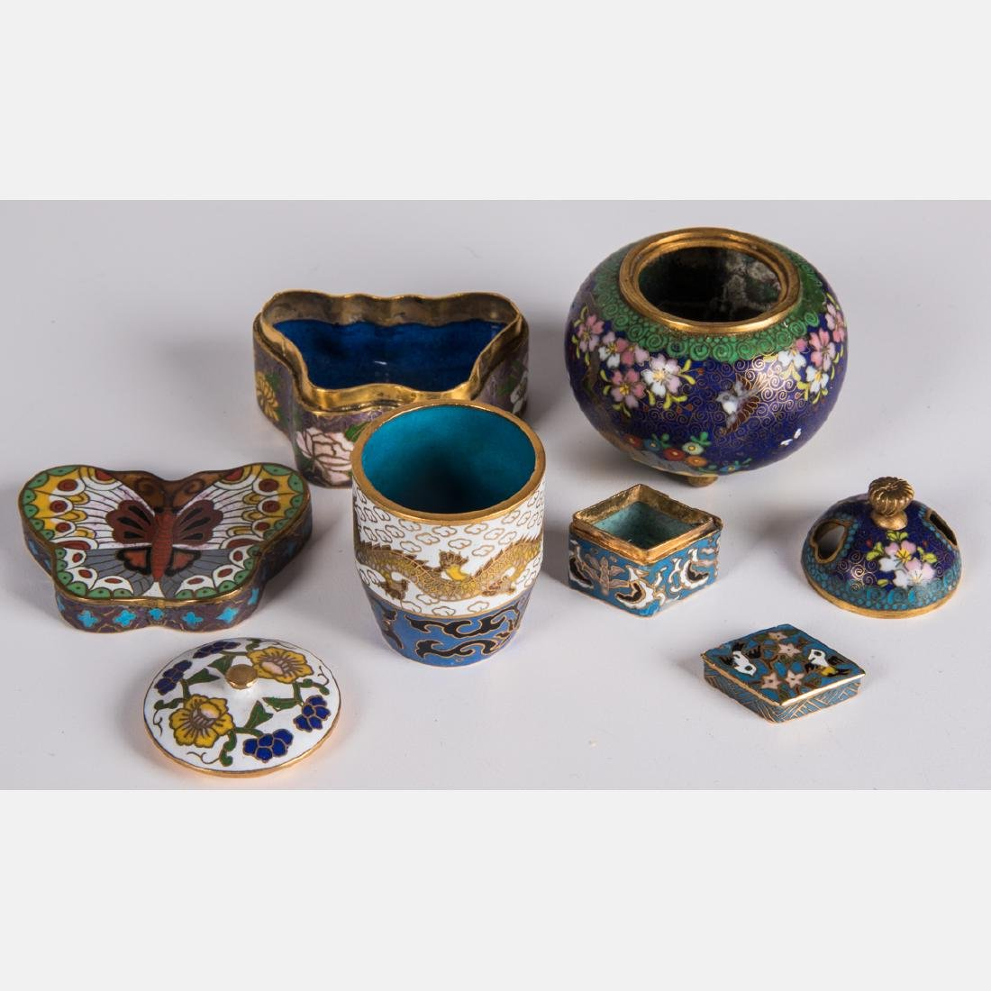A Group of Twenty-One Chinese Cloisonné Serving and - 3