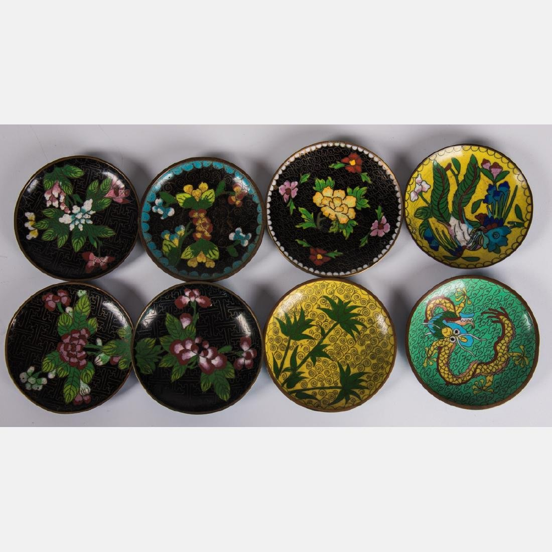 A Group of Twenty-One Chinese Cloisonné Serving and - 8