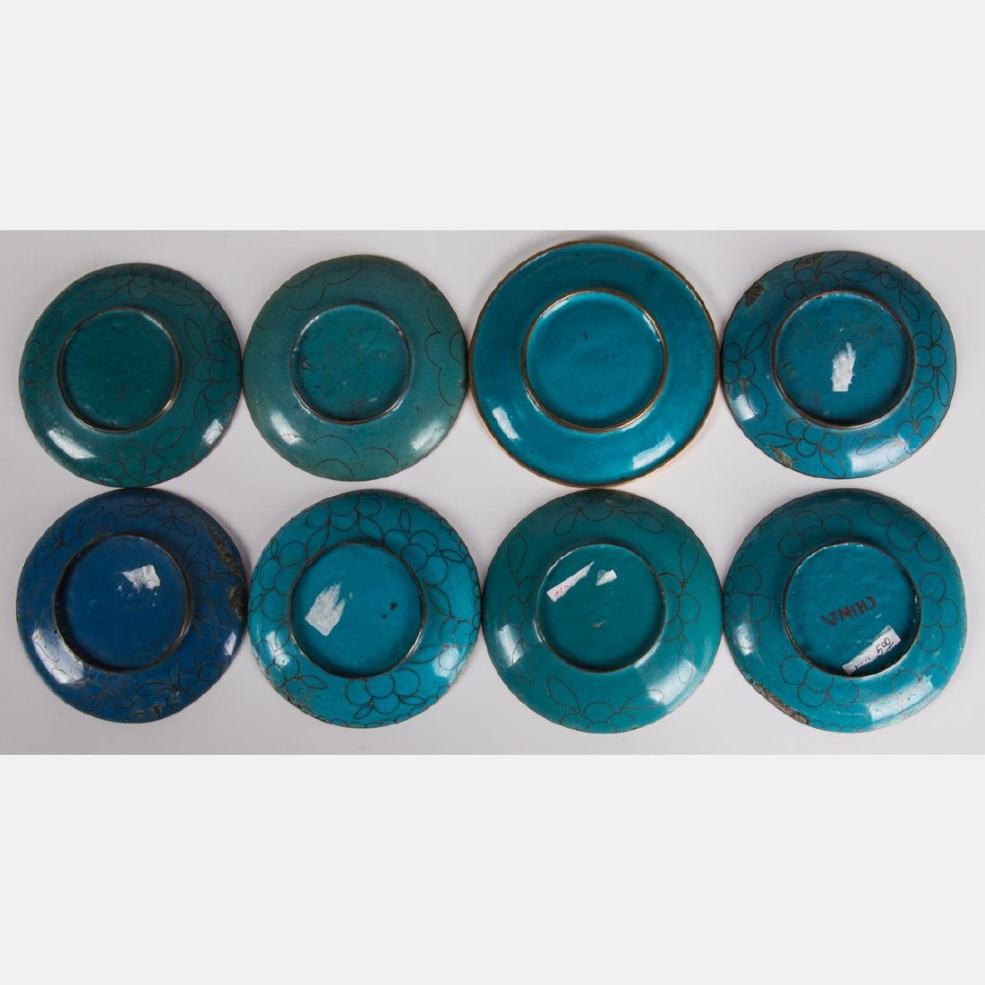 A Group of Twenty-One Chinese Cloisonné Serving and - 9
