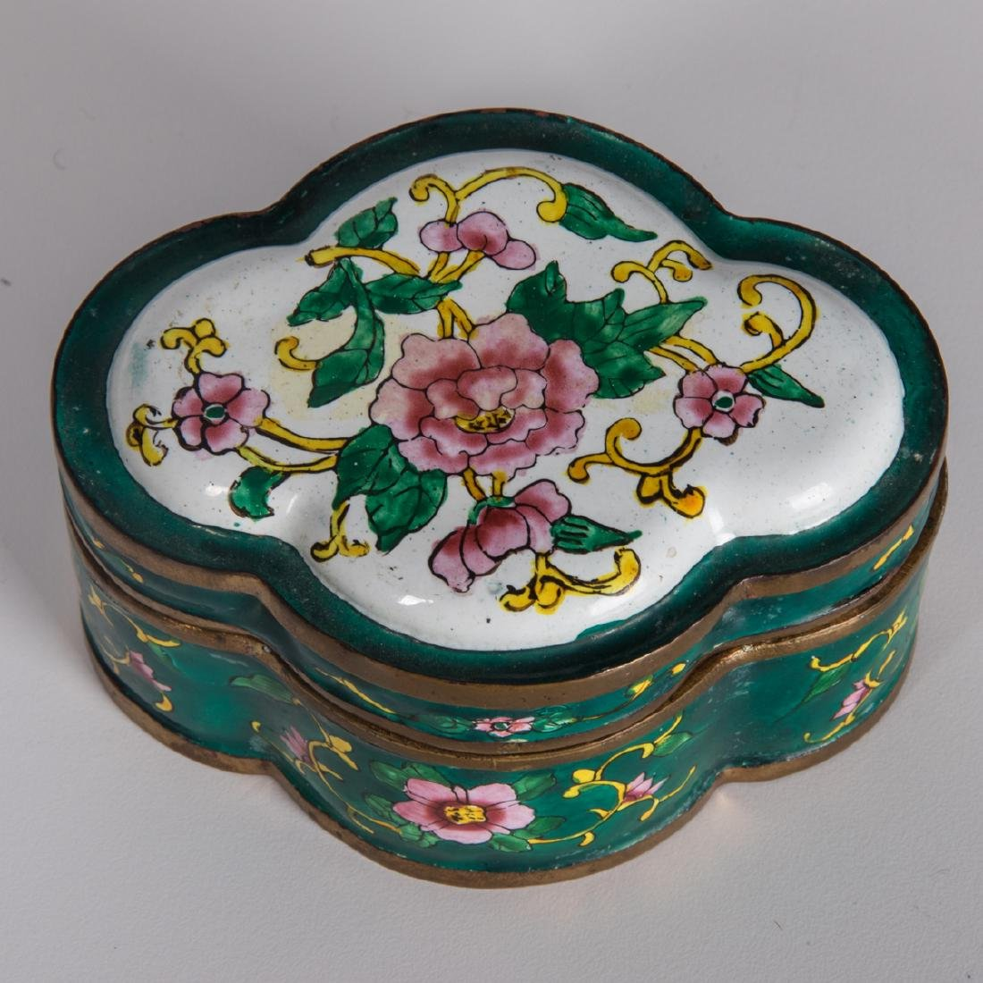 A Group of Eight Chinese Cloisonné and Enameled - 10