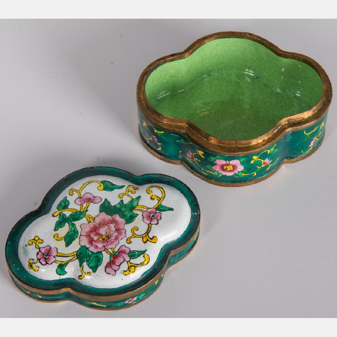 A Group of Eight Chinese Cloisonné and Enameled - 2