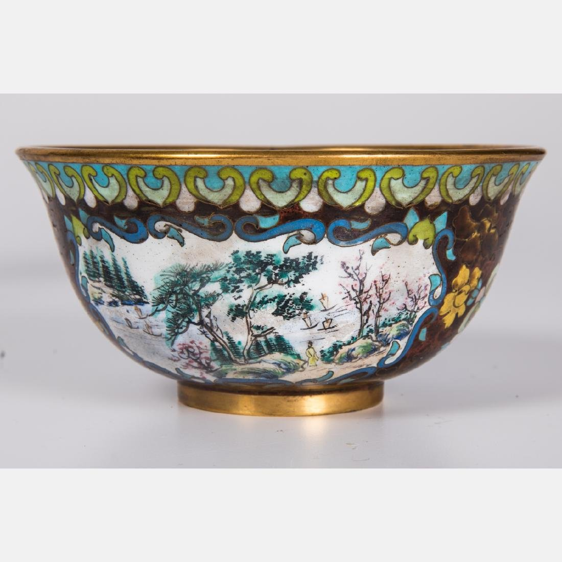 A Group of Eight Chinese Cloisonné and Enameled - 3