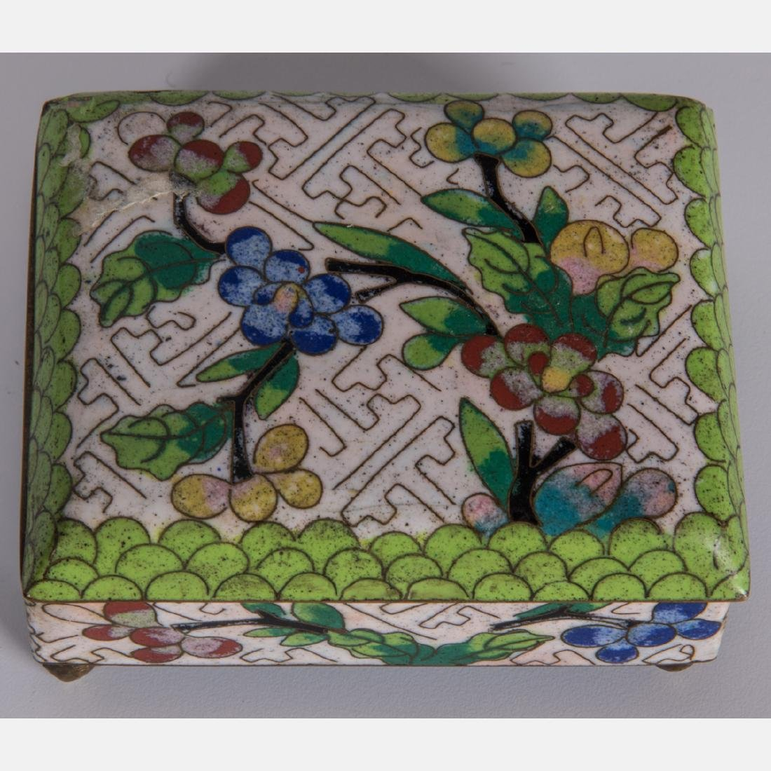 A Group of Eight Chinese Cloisonné and Enameled - 8