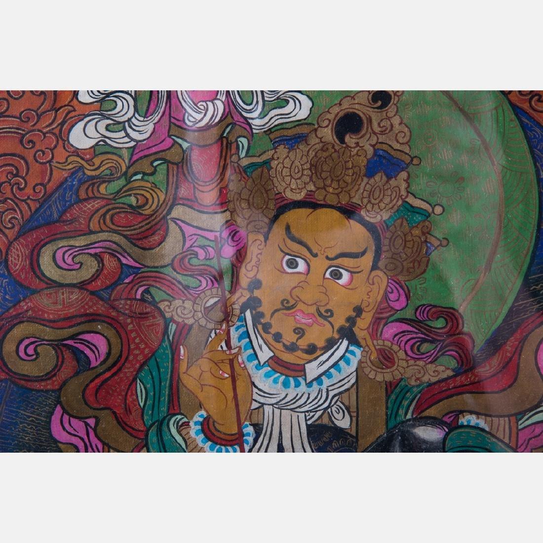 An Antique Sino-Tibetan Painted Thangka, - 3