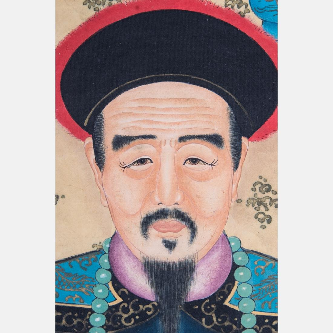 A Chinese Ancestral Portrait, 19th/20th Century, - 5