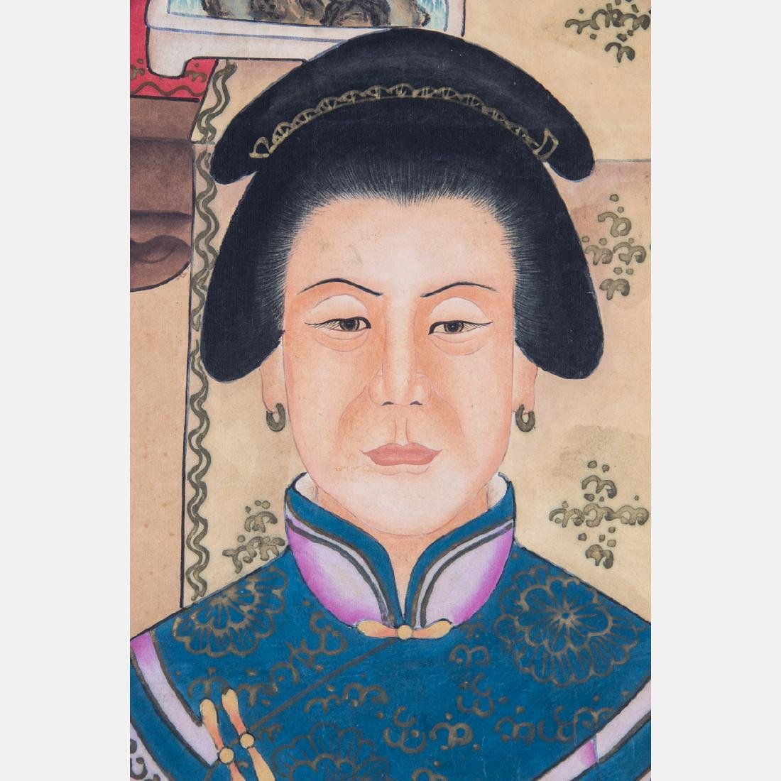A Chinese Ancestral Portrait, 19th/20th Century, - 6