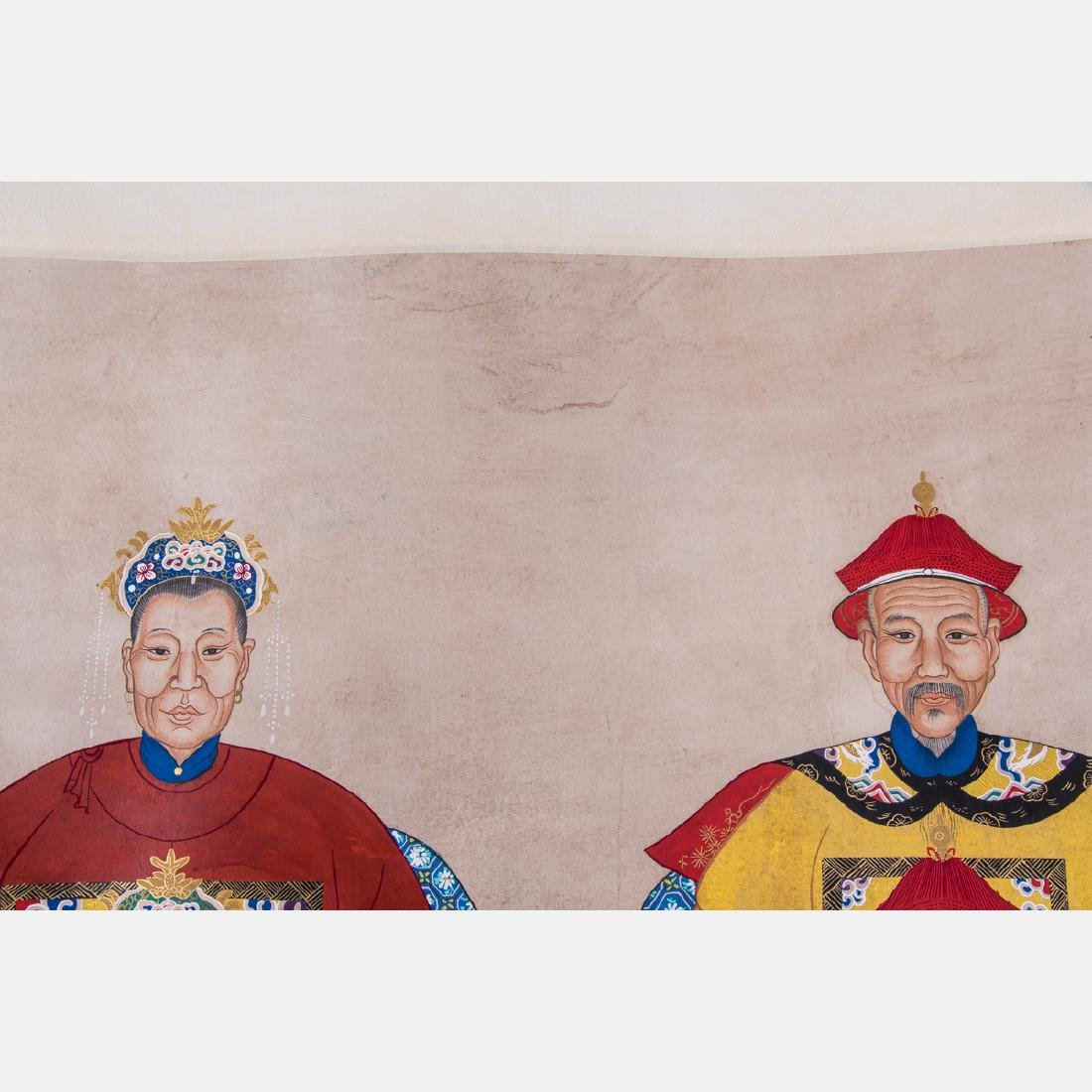 A Chinese Ancestral Portrait Group, 19th/20th Century, - 2