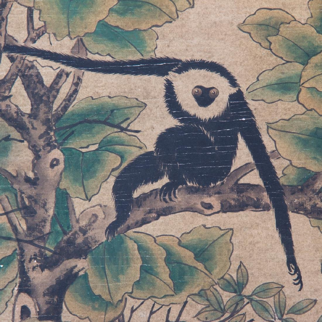 After Liu Songnian (1155-1218) Lohan with Gibbon Ink - 3