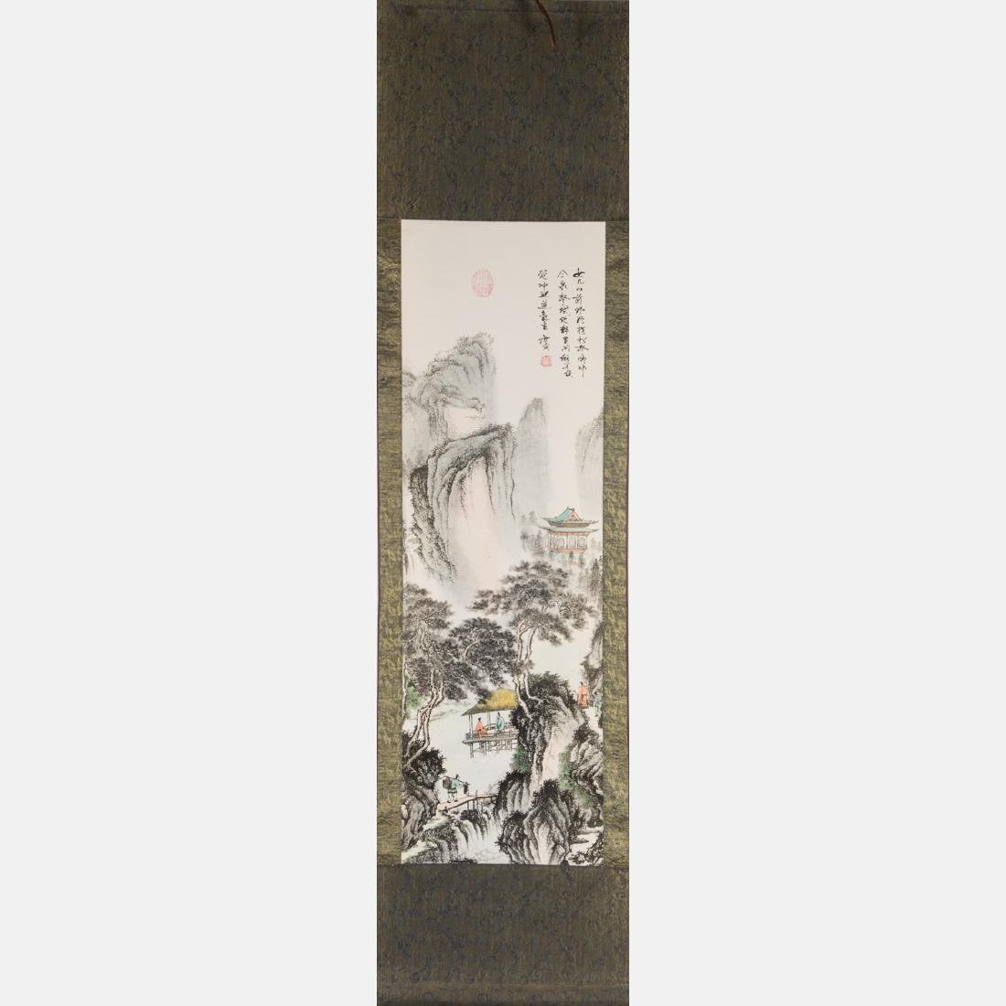 Two Chinese Printed Reproduction Scrolls, 20th Century, - 2