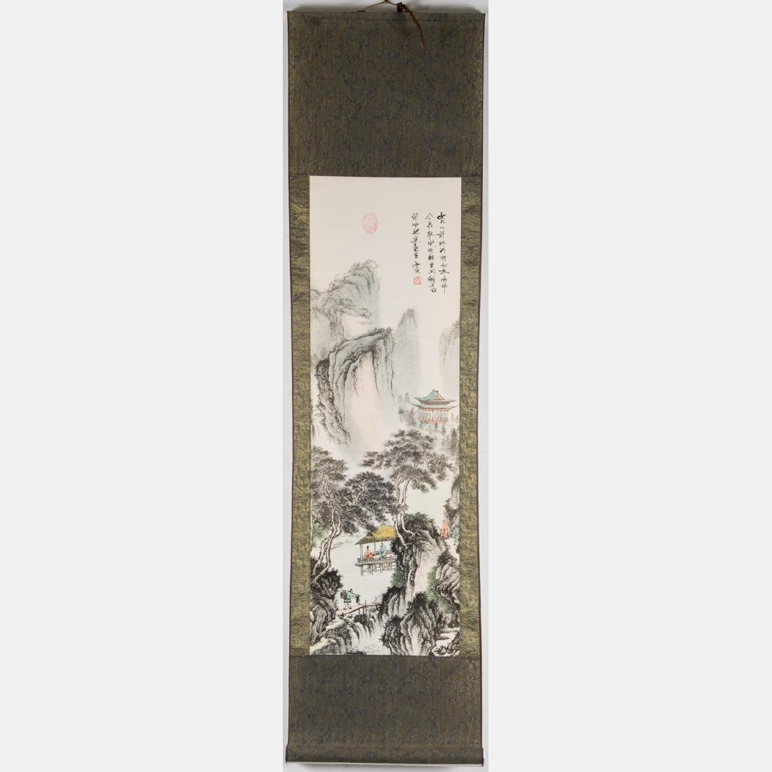 Two Chinese Printed Reproduction Scrolls, 20th Century, - 4