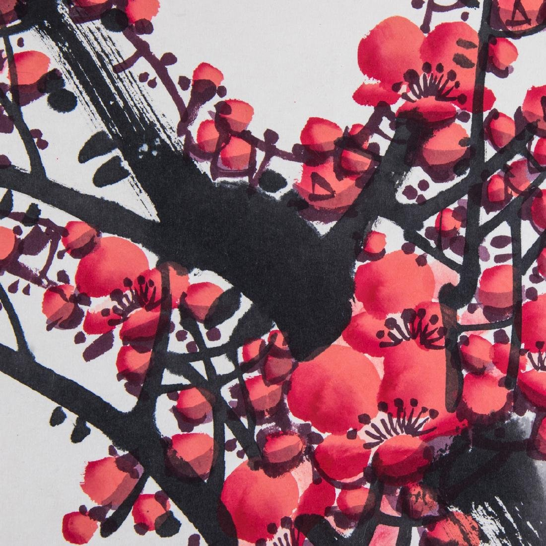 A Chinese Calligraphy Scroll Depicting a Cherry Blossom - 5