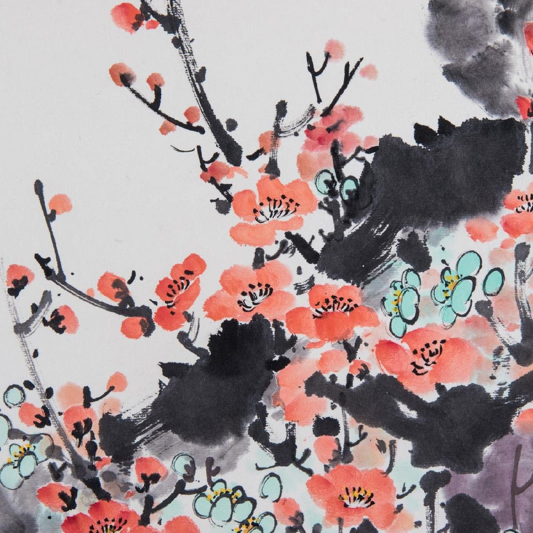A Chinese Spring Blossom Scroll, 20th Century, - 4