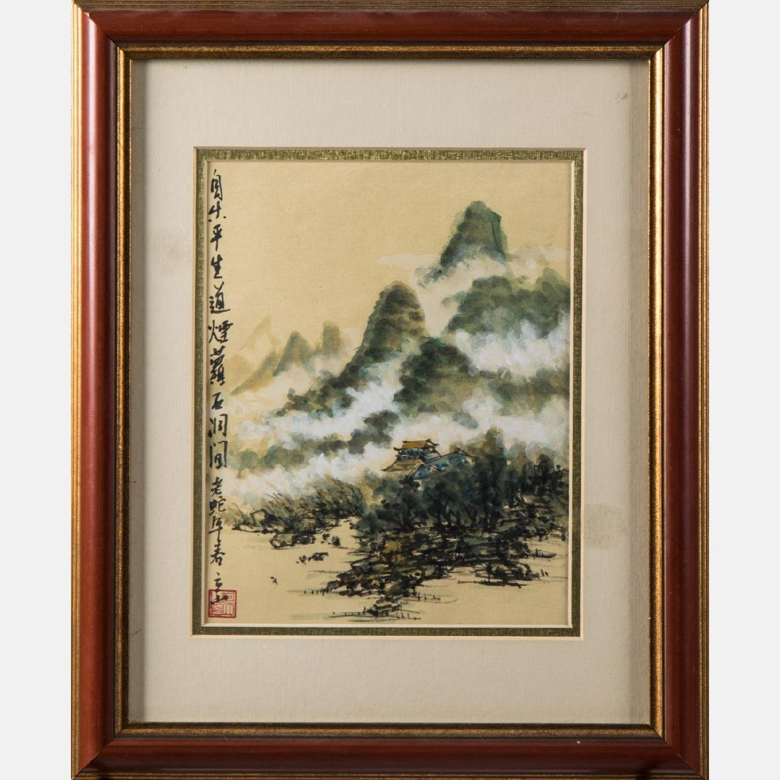 A Group of Chinese Decorative Ink and Watercolor - 3