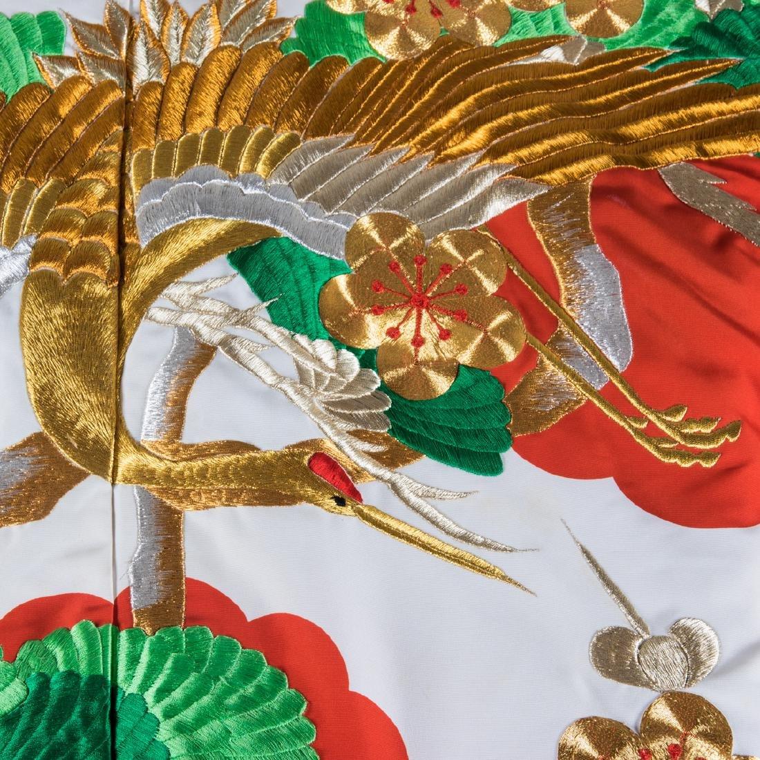 A Japanese Metallic and Silk Embroidered Kimono, 20th - 3