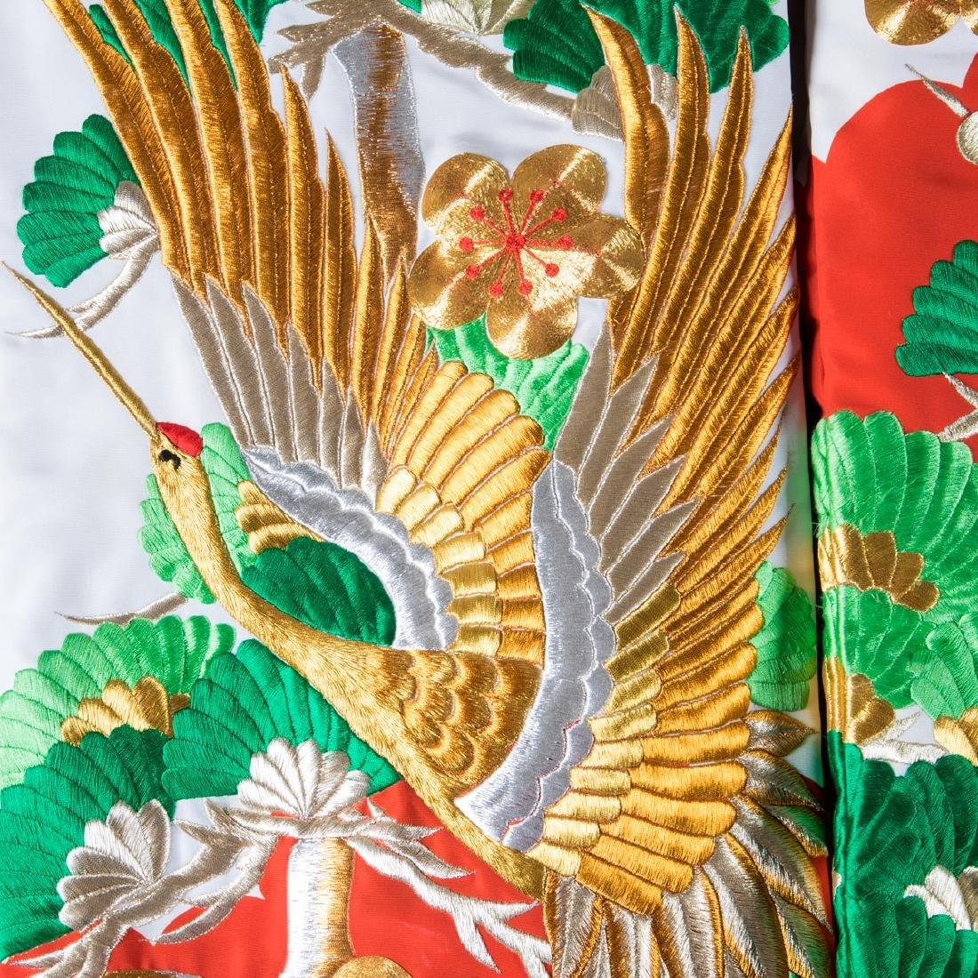 A Japanese Metallic and Silk Embroidered Kimono, 20th - 8