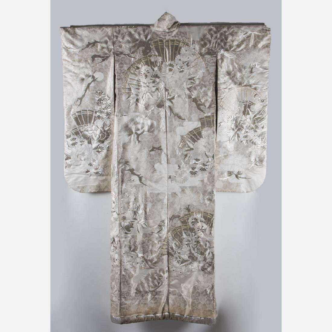 A Japanese Metallic and Silk Embroidered Kimono, 20th - 2