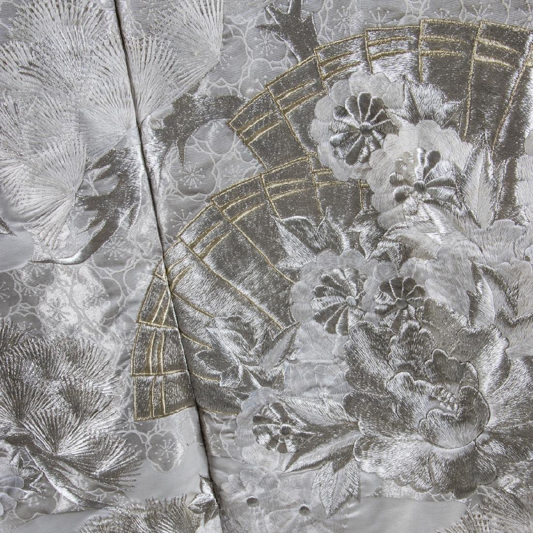 A Japanese Metallic and Silk Embroidered Kimono, 20th - 4