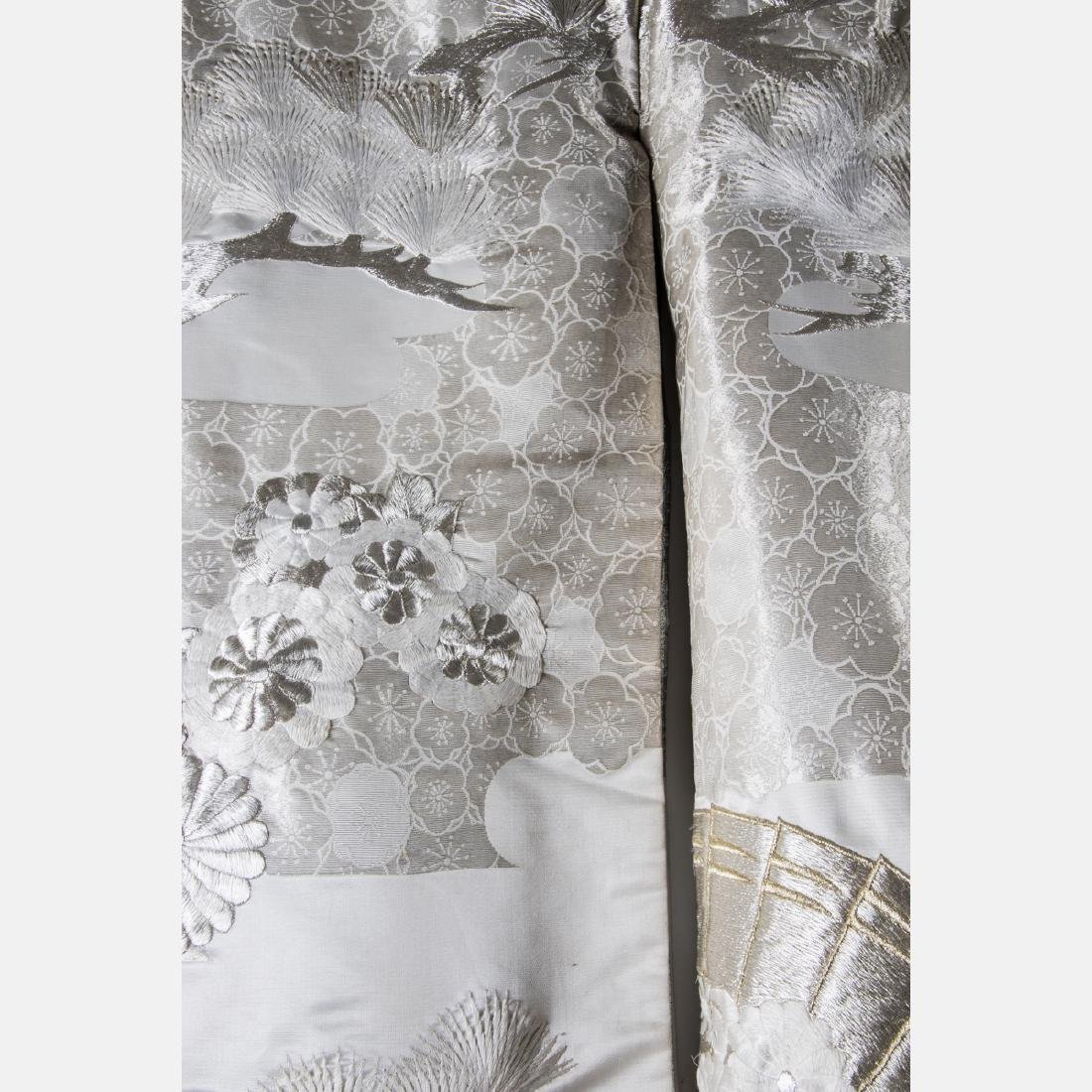 A Japanese Metallic and Silk Embroidered Kimono, 20th - 6