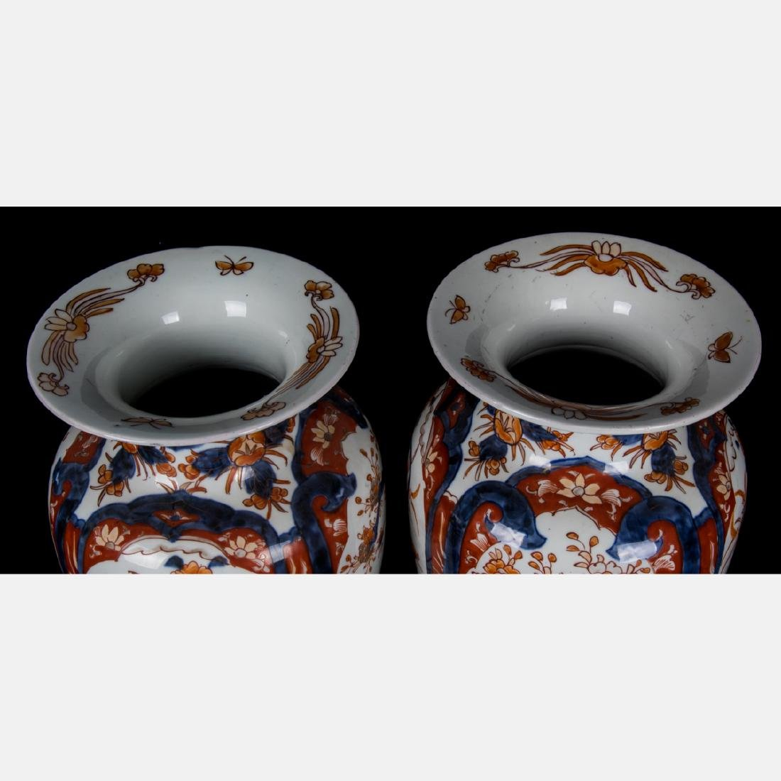 A Pair of Japanese Imari Porcelain Vases, 20th Century. - 2