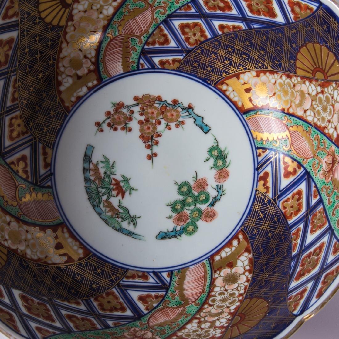 A Collection of Three Japanese Imari Bowls, 20th - 4