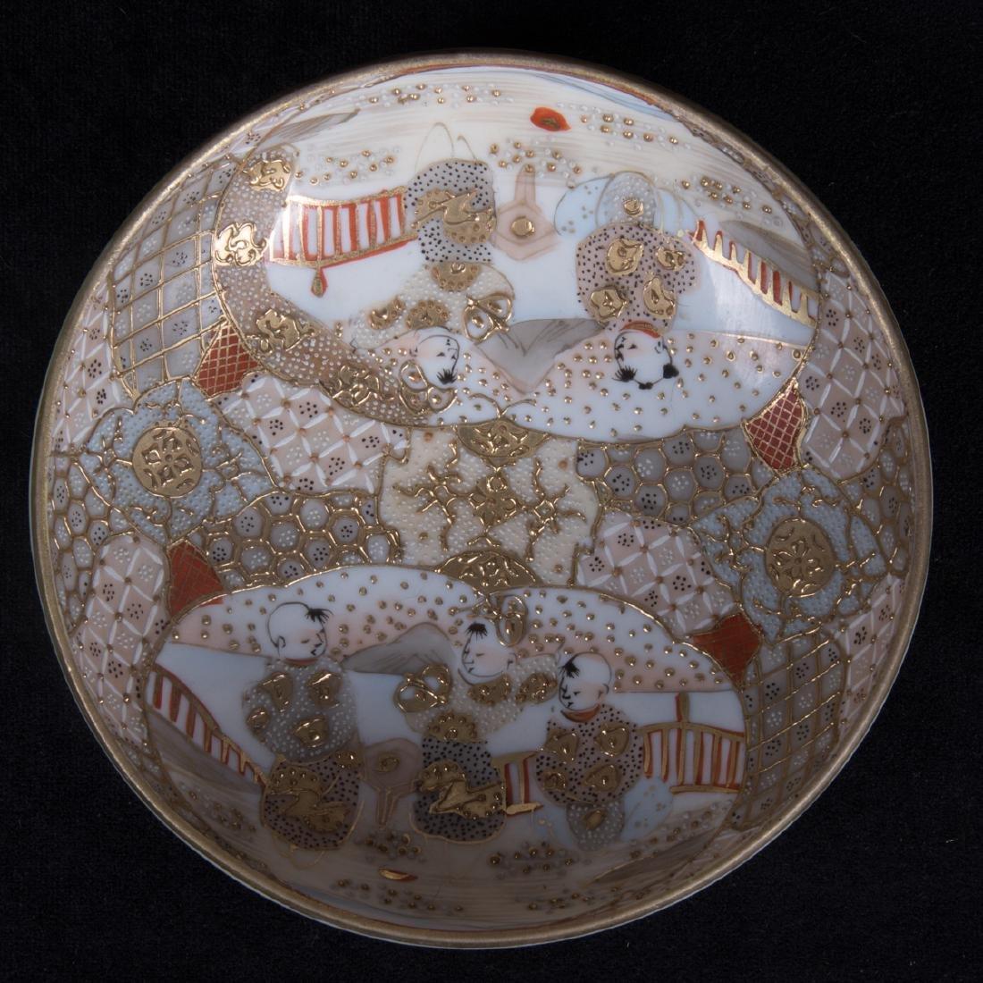 A Group of Three Japanese Satsuma Porcelain and - 3