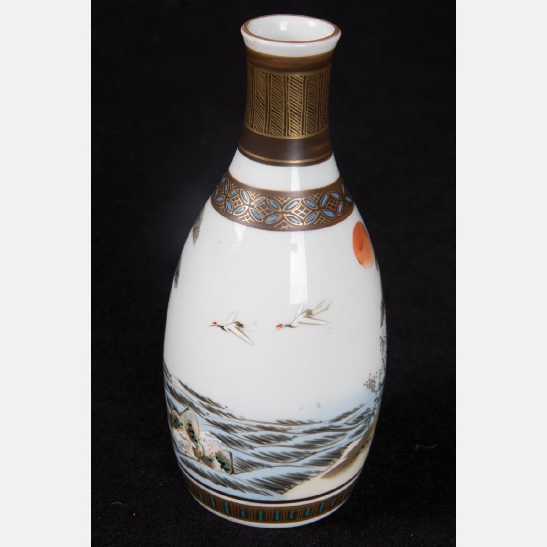 A Group of Five Japanese Porcelain Sake Bottles of - 5