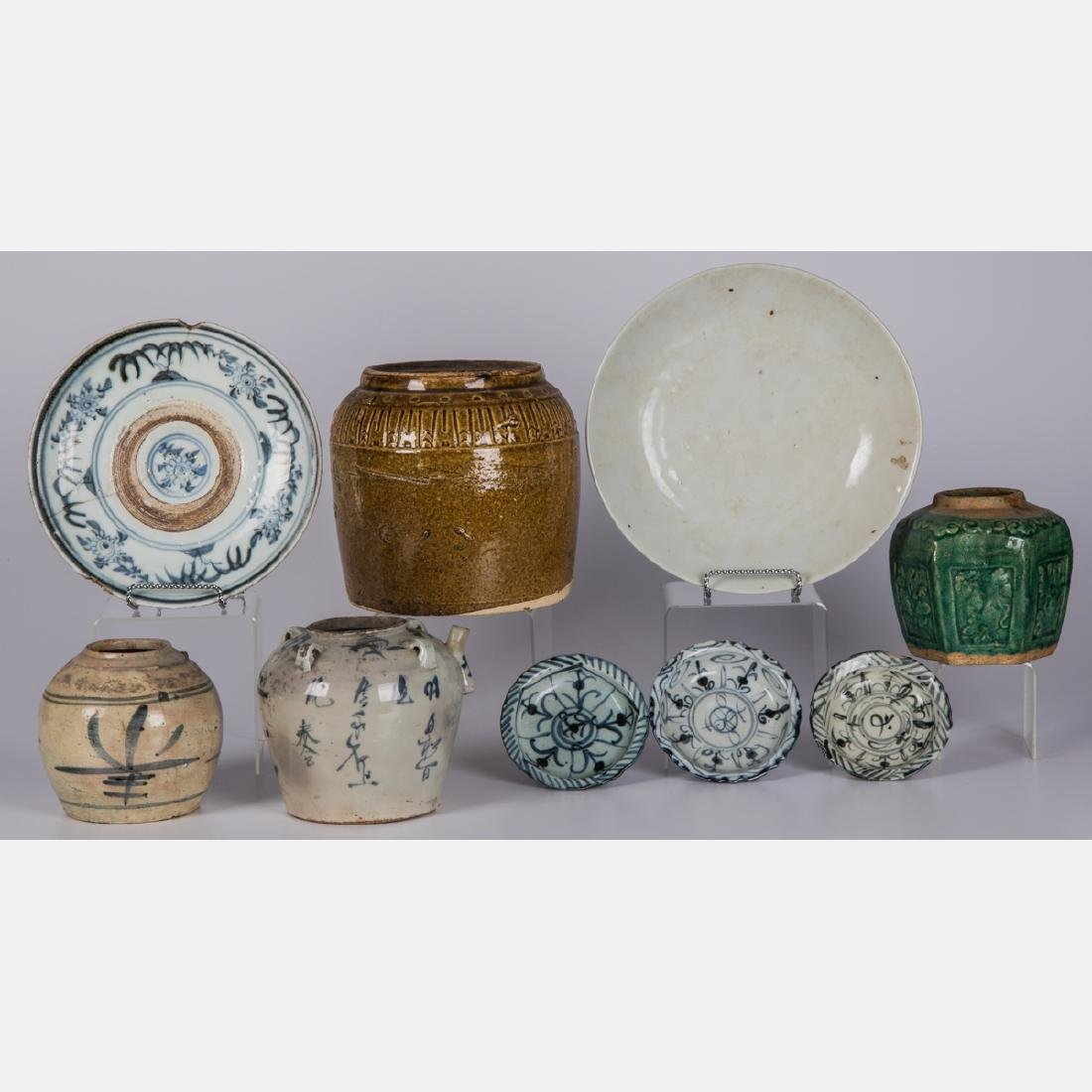 A Group of Nine Japanese Earthenware and Stoneware