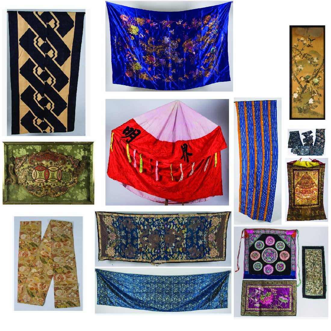 A Miscellaneous Collection of Asian Embroidered and