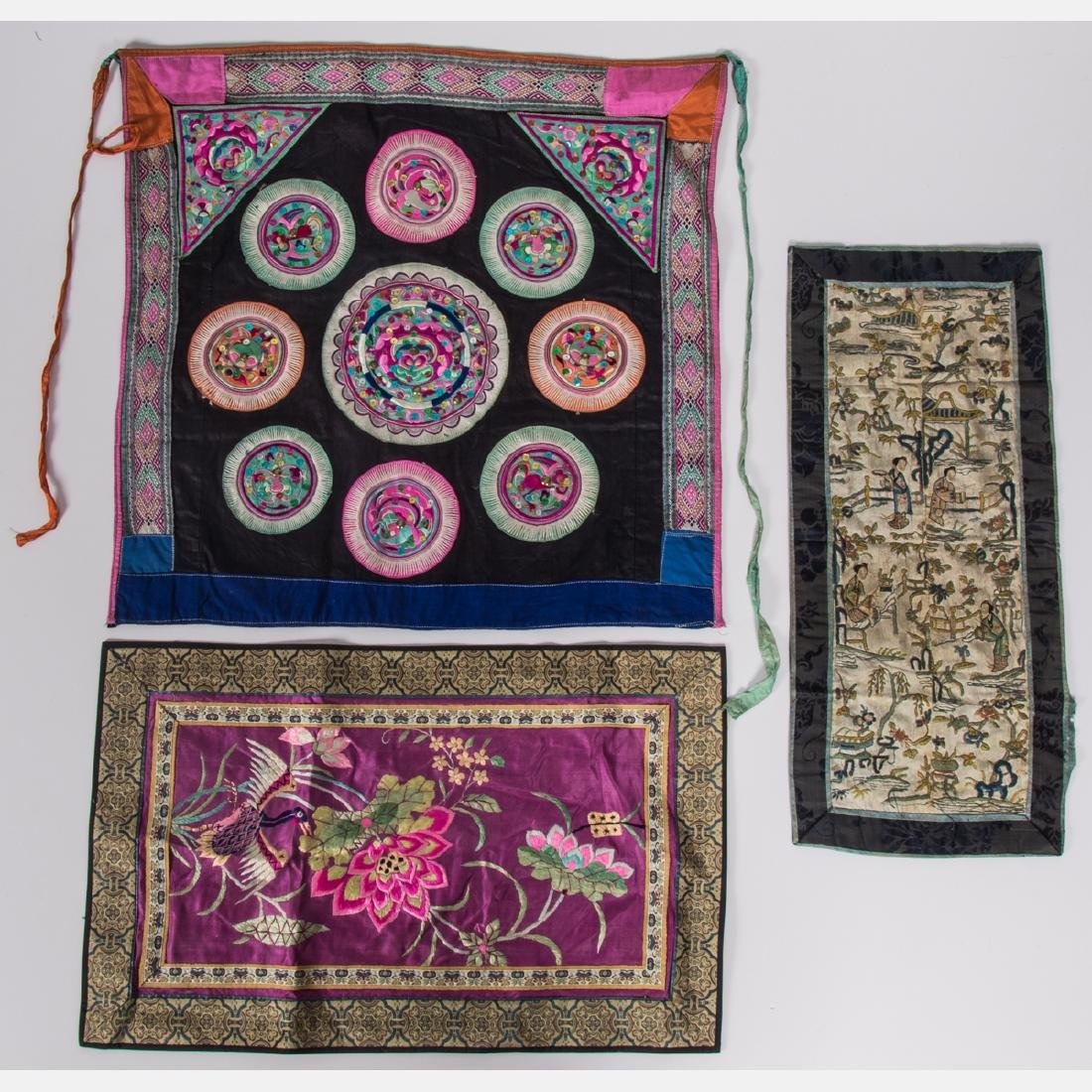 A Miscellaneous Collection of Asian Embroidered and - 4