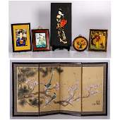 A Miscellaneous Collection of Asian Framed and Unframed