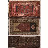 A Group of Three Turkish Wool Rugs, 20th Century.