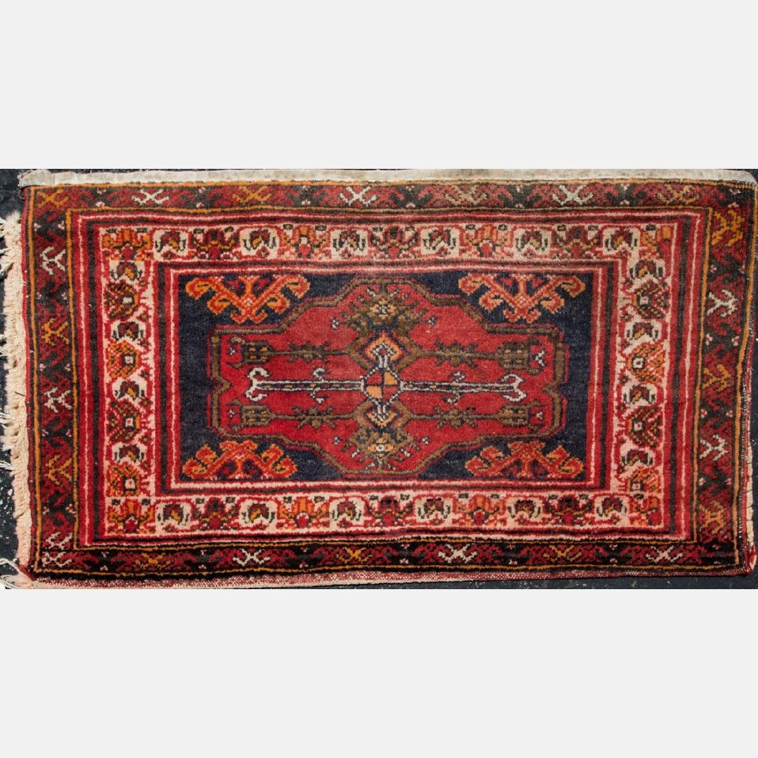 A Group of Three Turkish Wool Rugs, 20th Century. - 3
