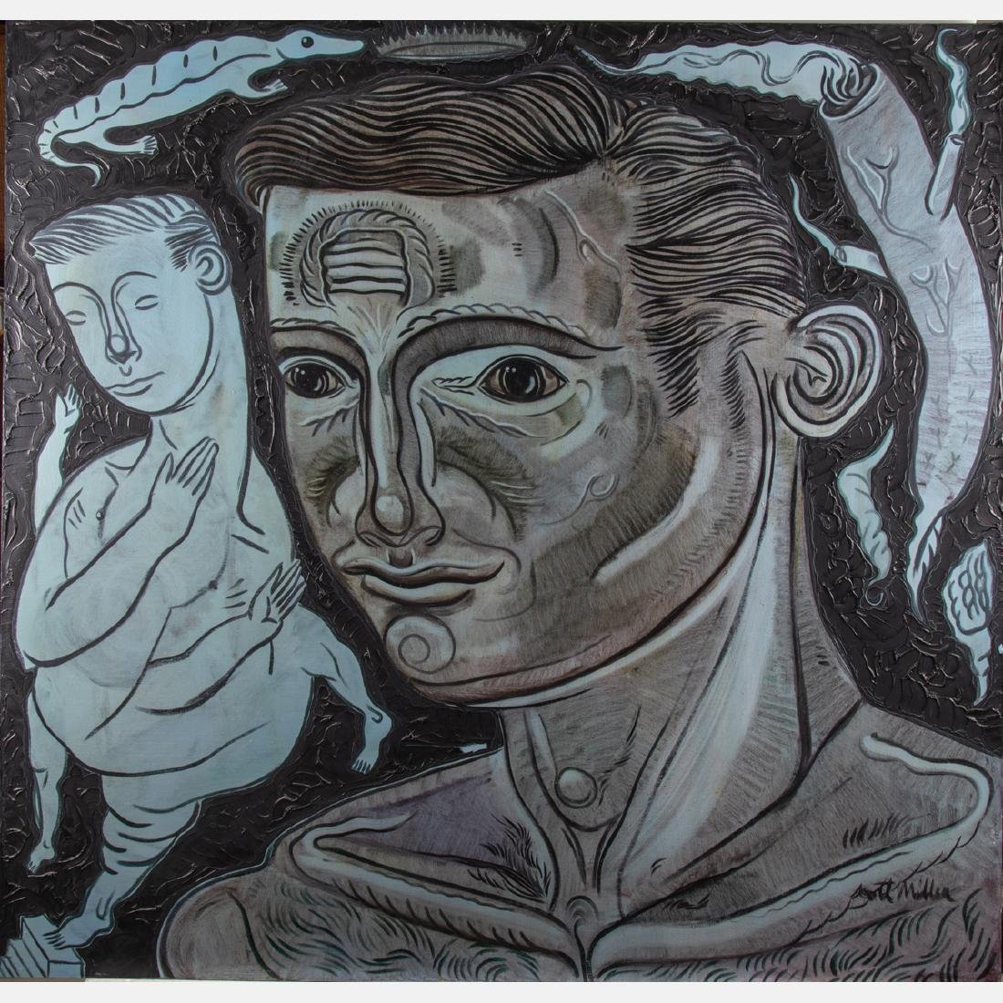 Scott Miller (1955-2008) Untitled, Oil on canvas,