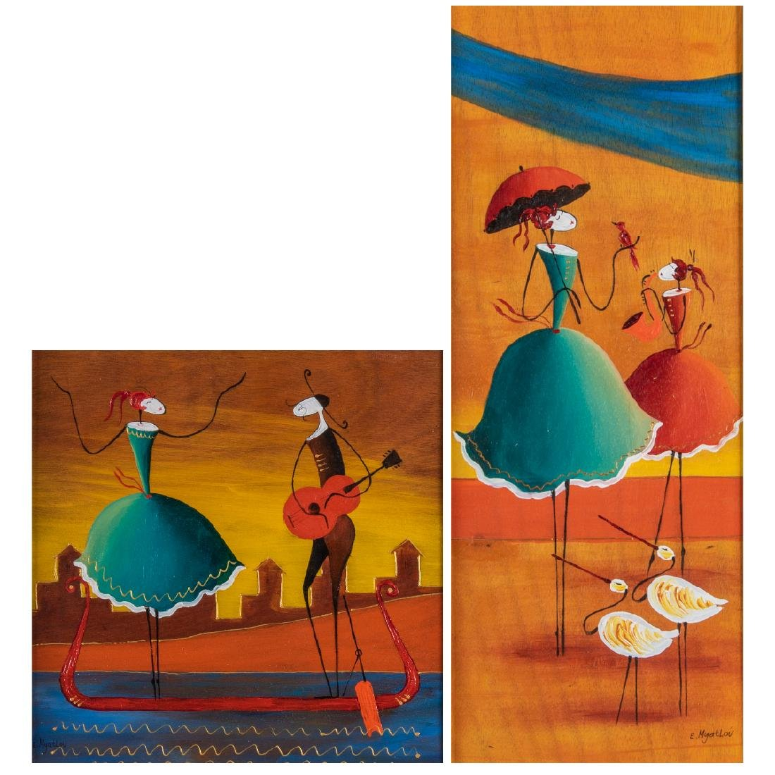 Ester Myatlov (b. 1976) 'Inspiration' and 'Love on a