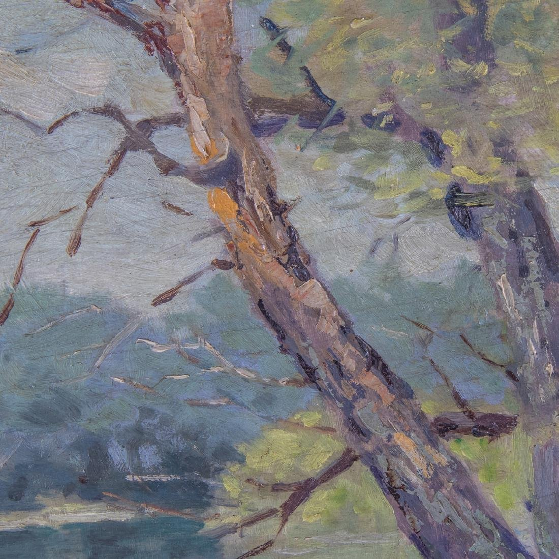 A. Shimball (20th Century) Forest River Scene, Oil on - 4