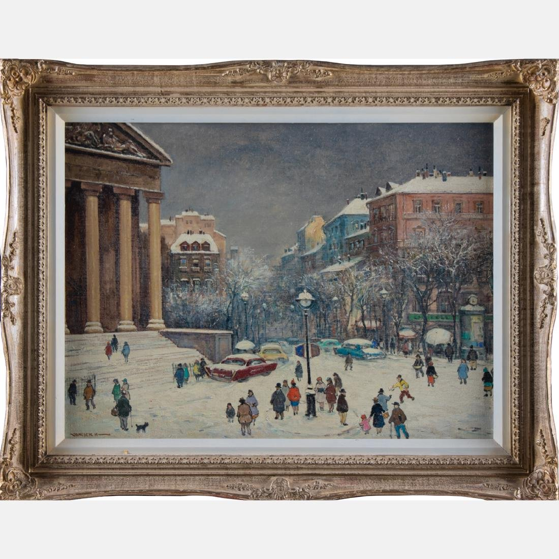 Antal Jancsek (1907-1985) Winter Paris Street Scene, - 2