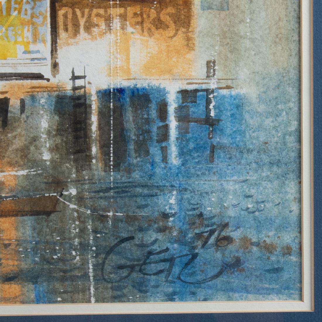 Don Getz (b. 1934) Harbor Scene (Fresh Clams), - 2