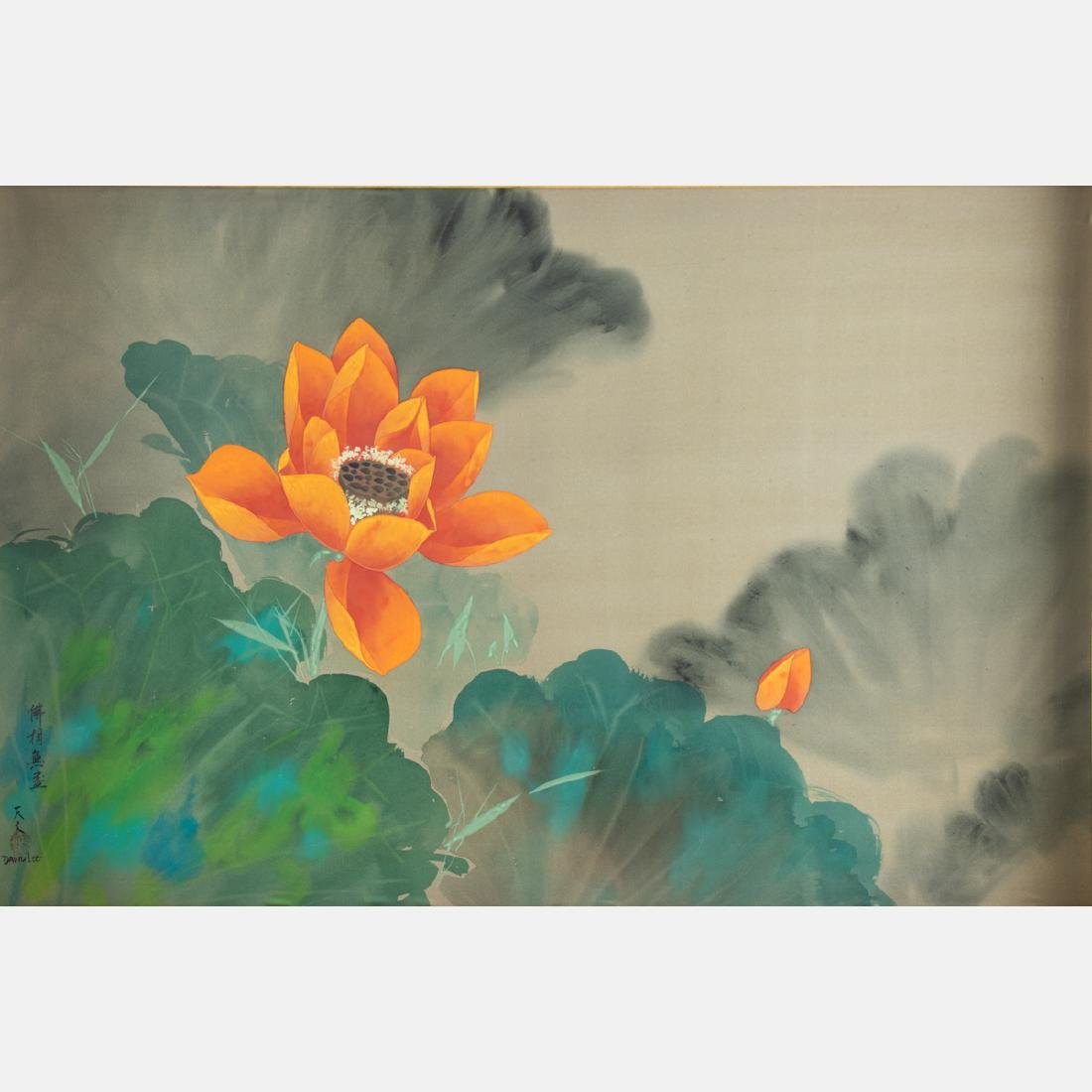 David Lee (Chinese, b. 1944) Orange Blossom, Oil on