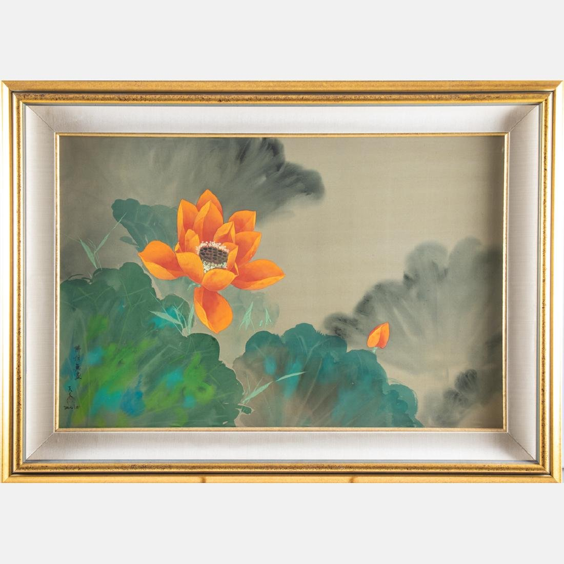 David Lee (Chinese, b. 1944) Orange Blossom, Oil on - 2