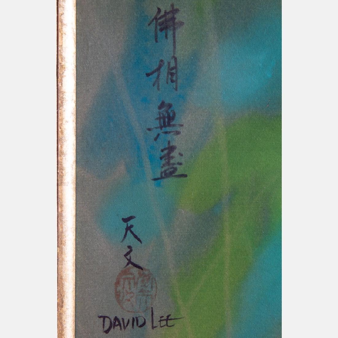 David Lee (Chinese, b. 1944) Orange Blossom, Oil on - 3
