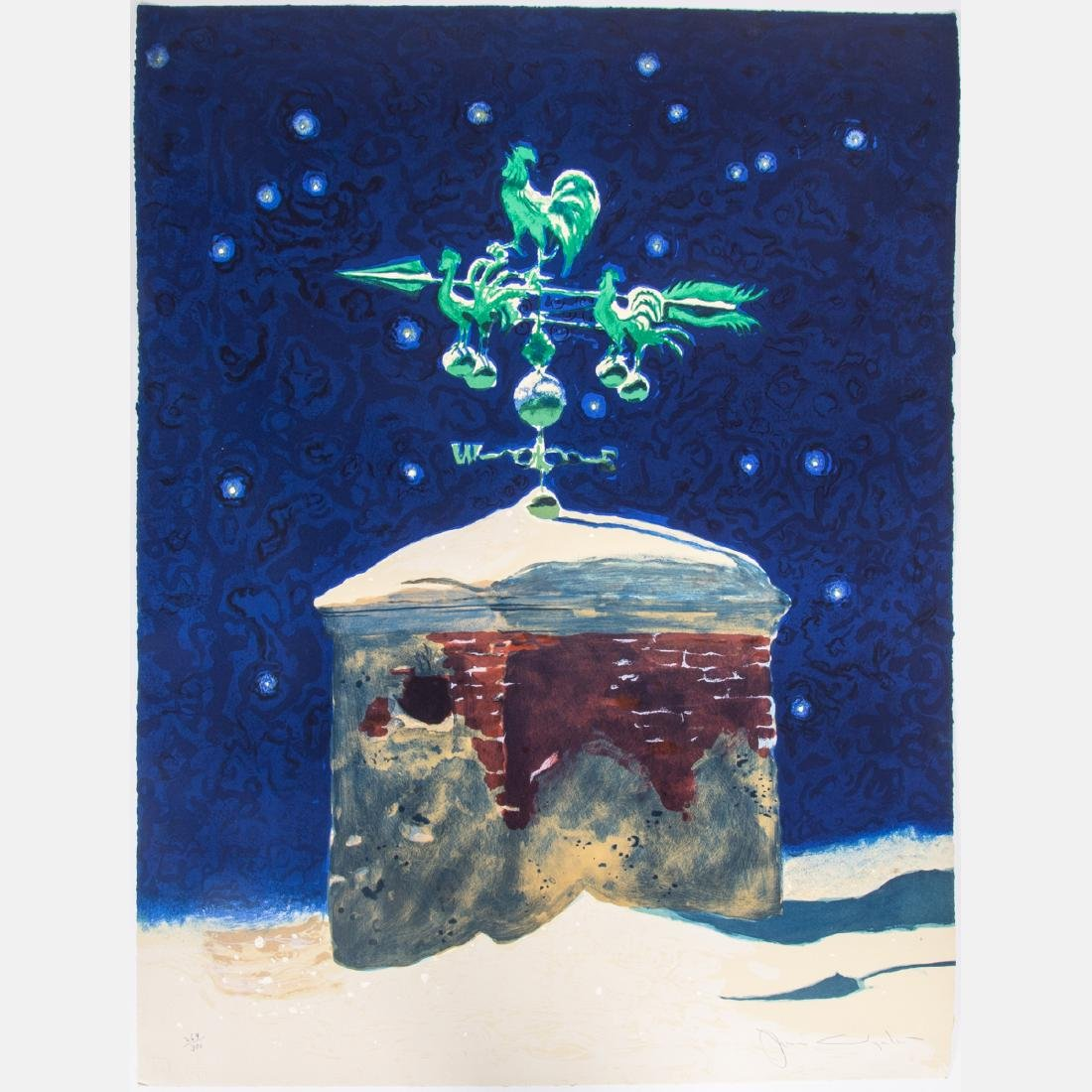 Jamie Wyeth (b. 1946) Weathervane, Lithograph,