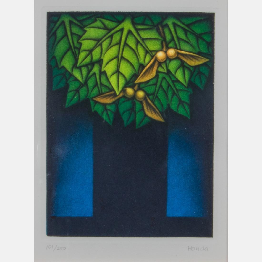 Kazuhisa Honda (b. 1948) Maple Tree, Mezzotint in four