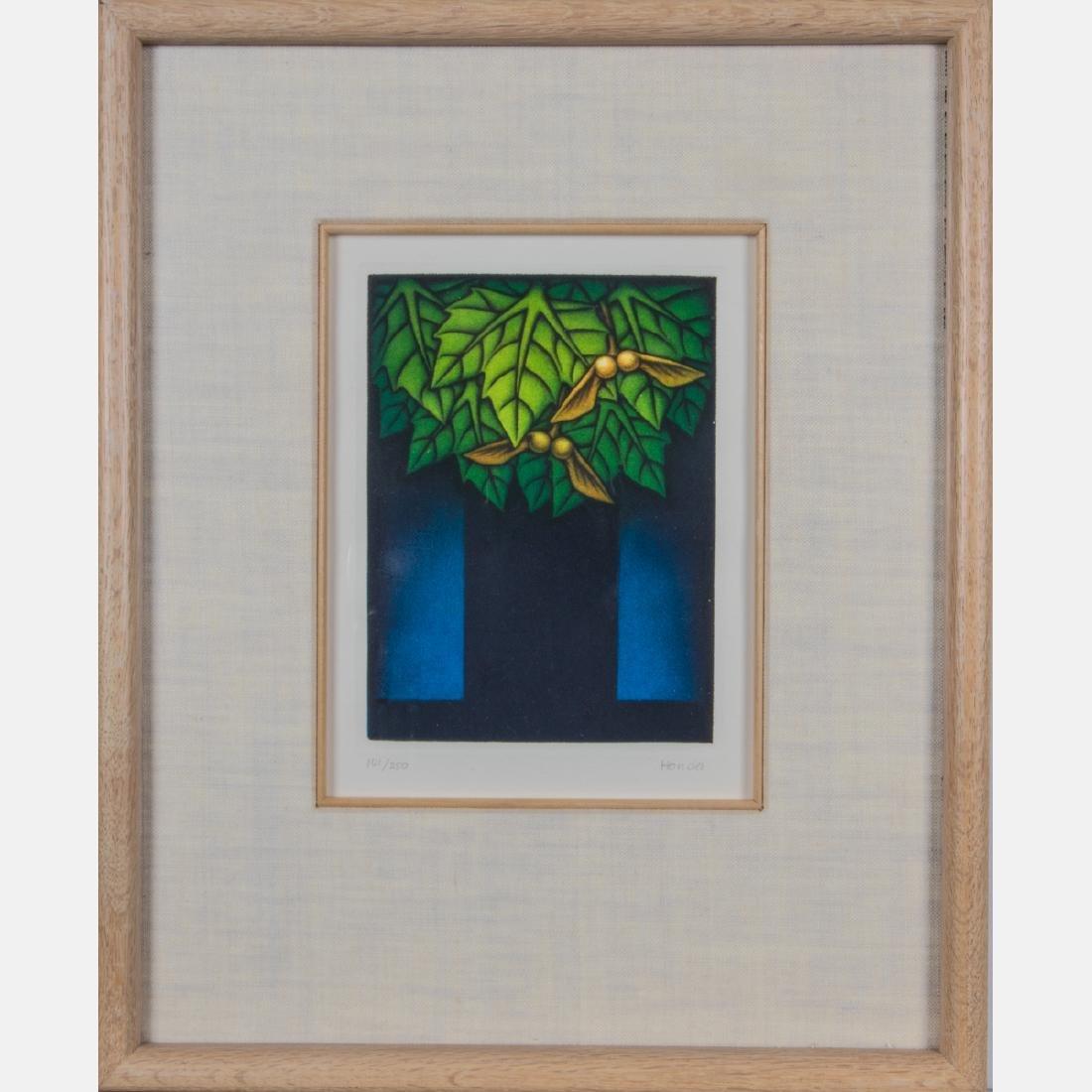 Kazuhisa Honda (b. 1948) Maple Tree, Mezzotint in four - 2