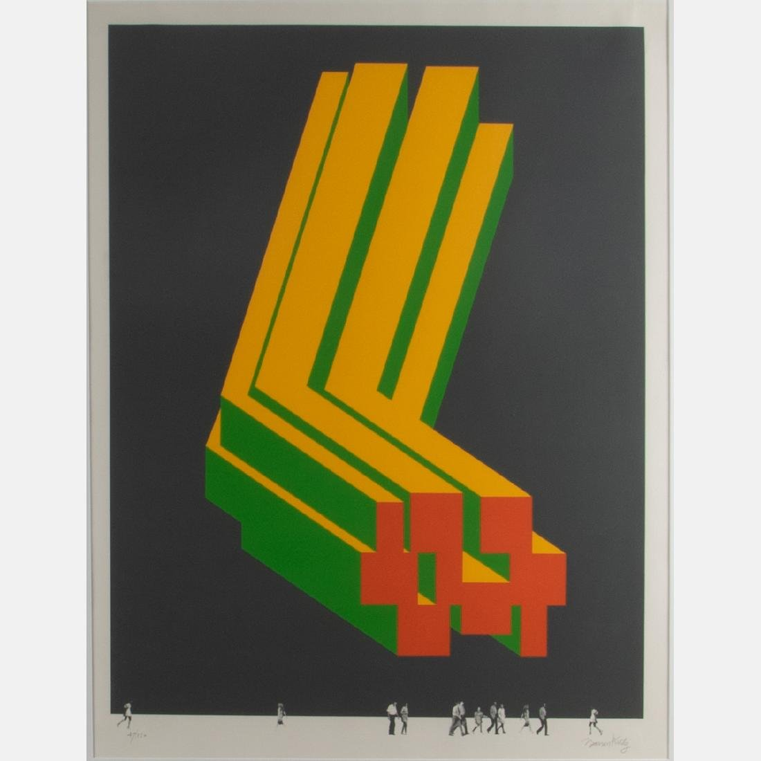 Barron Krody (b. 1936) Cleveland Urban Wall, - 2