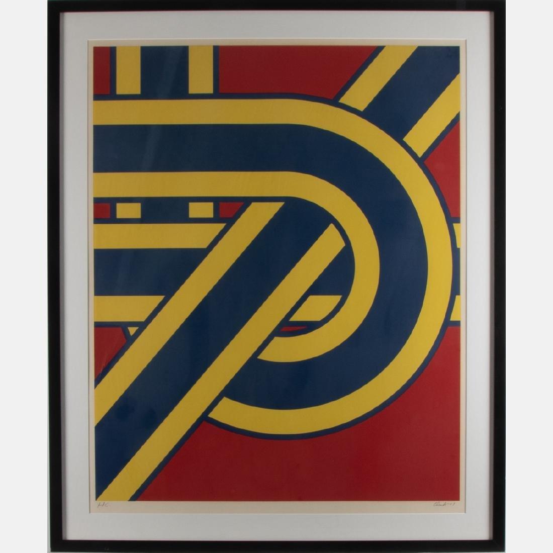 Pierre Clerk (b.1928) Untitled #3, 1971, Serigraph,