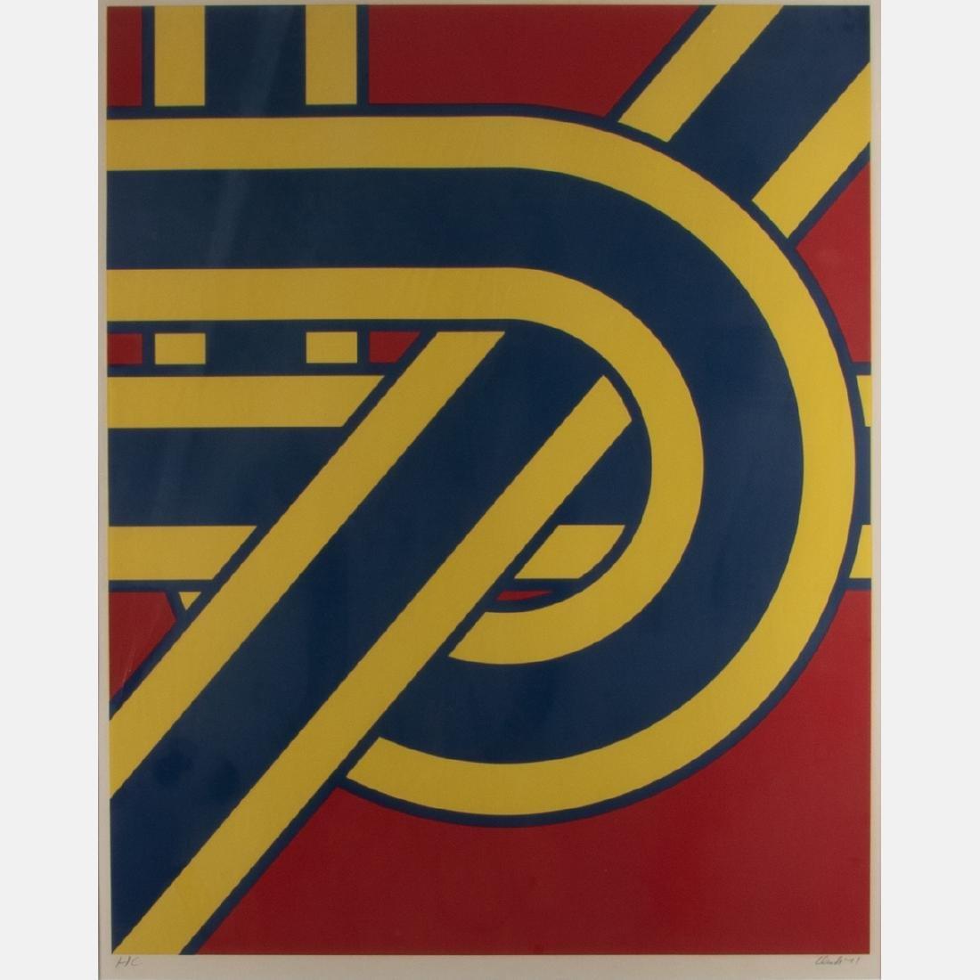 Pierre Clerk (b.1928) Untitled #3, 1971, Serigraph, - 2