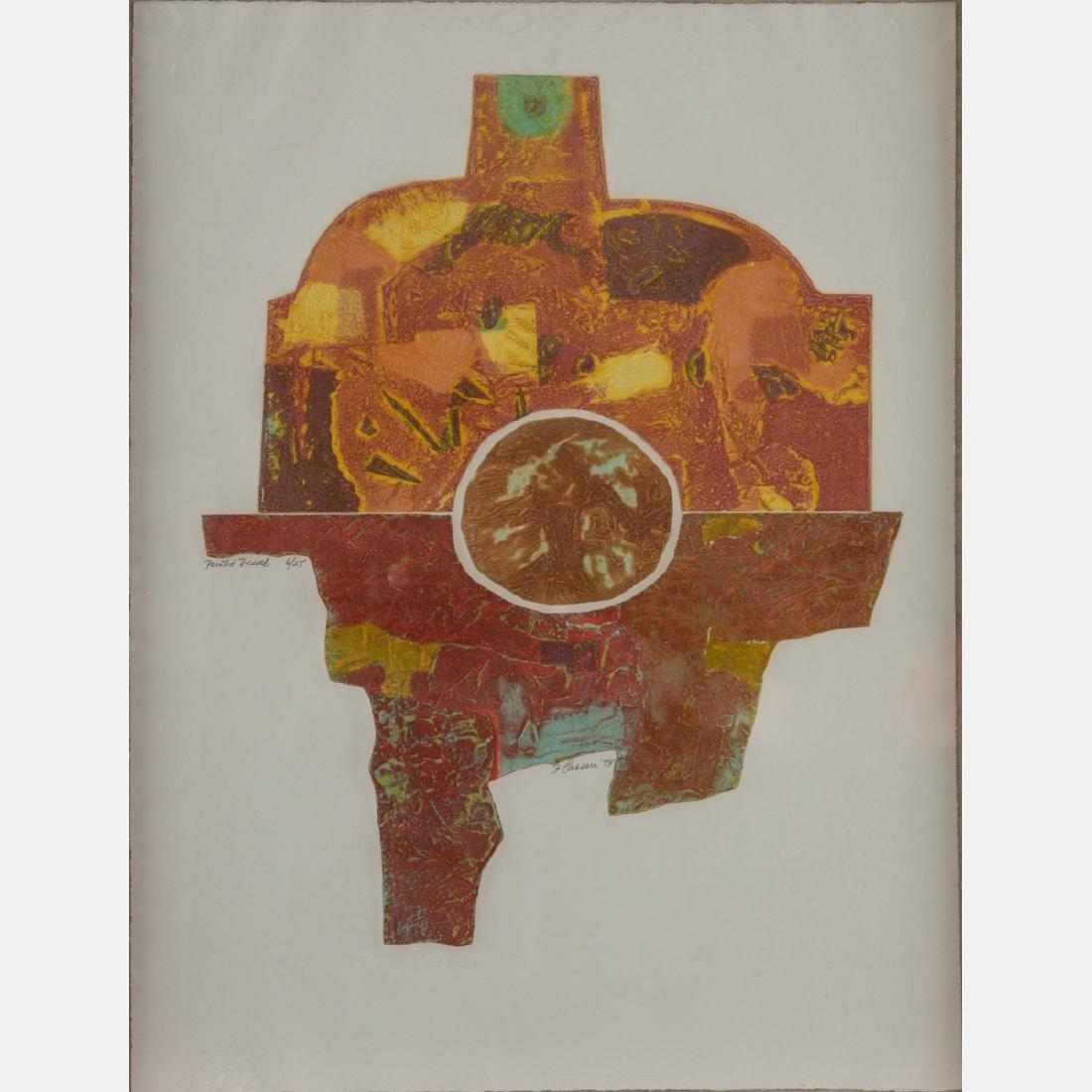 Frank Cassara (b. 1913) Painted Vessel, 1974,