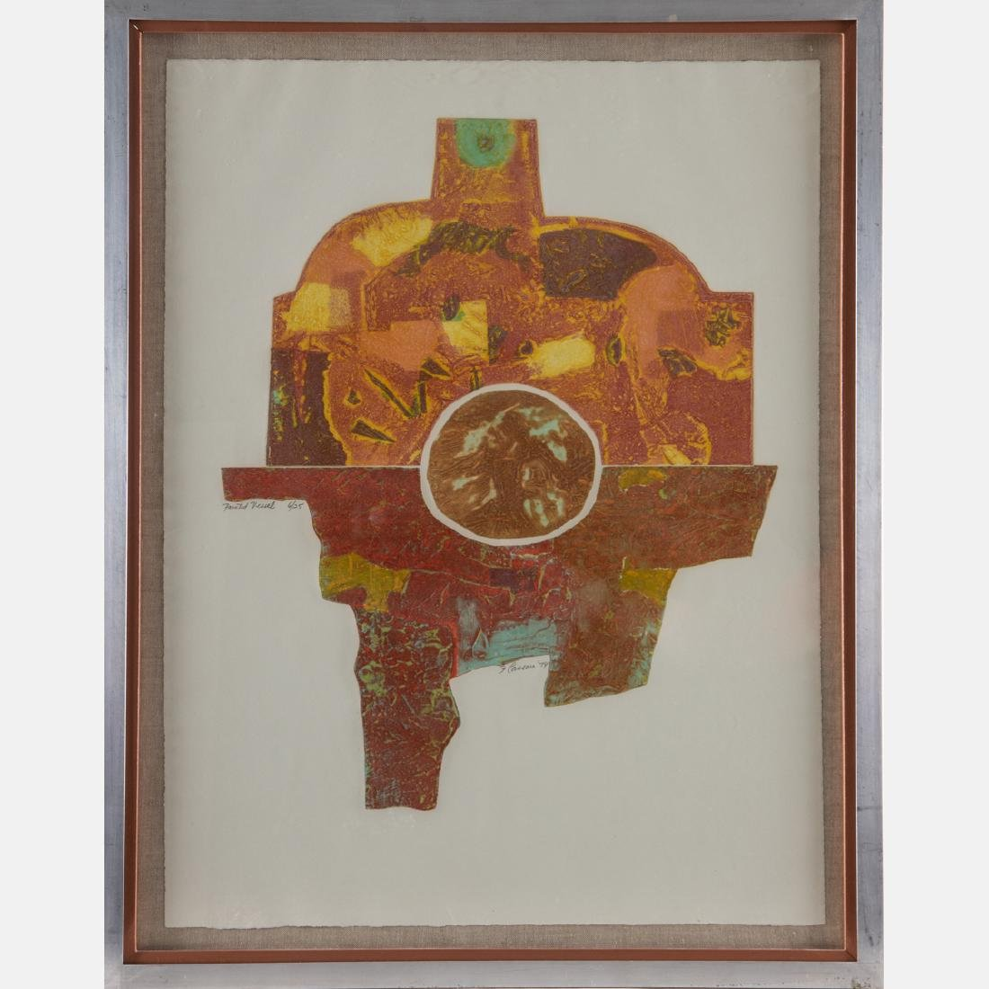 Frank Cassara (b. 1913) Painted Vessel, 1974, - 2