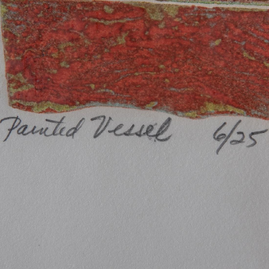 Frank Cassara (b. 1913) Painted Vessel, 1974, - 3